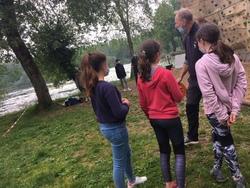 SORTIES SPORTIVES à l'étang de la Forêt de Brandivy pour les CE2, CM1 et CM2