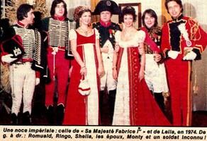 Décembre 1973 : Mariage de Fabrice et Leïla