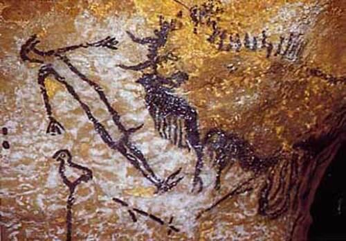 L'homme terrassé par un bison eviscèré