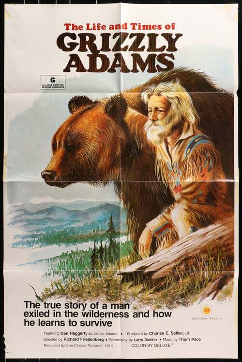 THE LIFE AND TIME OF GRIZZLY ADAMS BOX OFFICE USA 1974