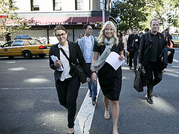 Mette Marit à New York