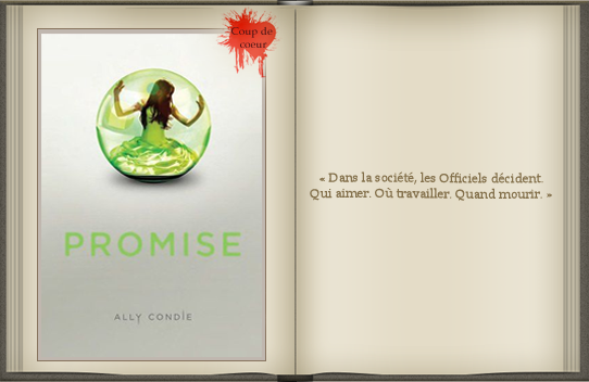 « Promise : tome 1 » d'Ally Condie.