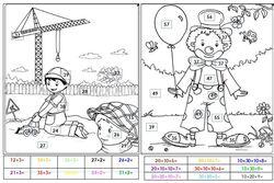 Coloriages mathématiques cp