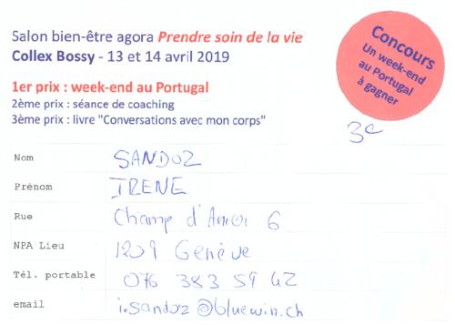 Salon bien-être Collex-Bossy GE 2019 - Concours