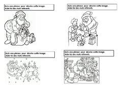 Production écrit sur Noël avec les mots référents