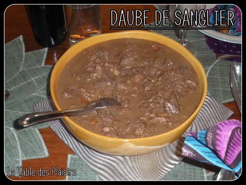 DAUBE DE SANGLIER