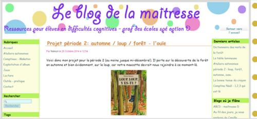 Le blog de la maîtresse