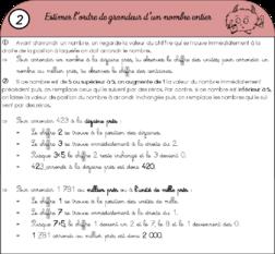 Leçons CM1 pour la période 1.