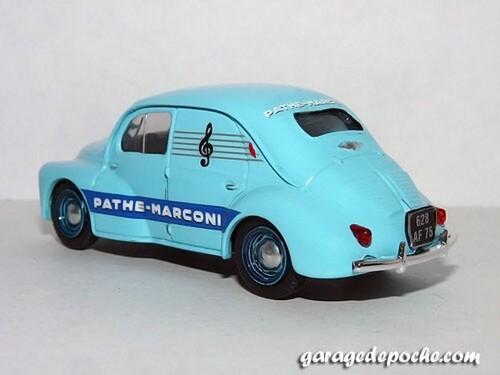 Renault 4cv commerciale Pathé-Marconi