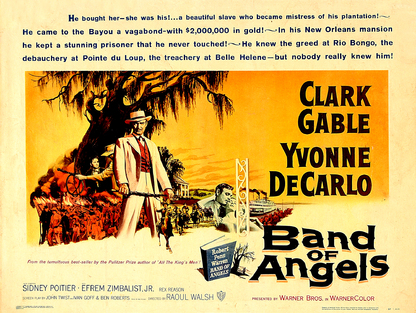 BAND OF ANGELS POSTER USA BOX OFFICE 1957