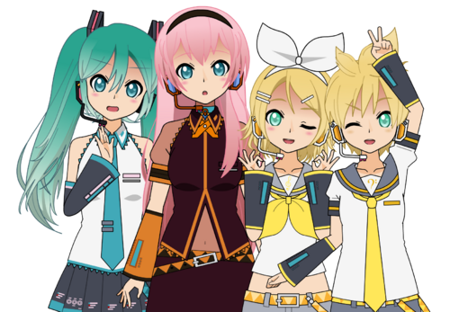 Miku + Rin + Len + Luka [100 % complet]