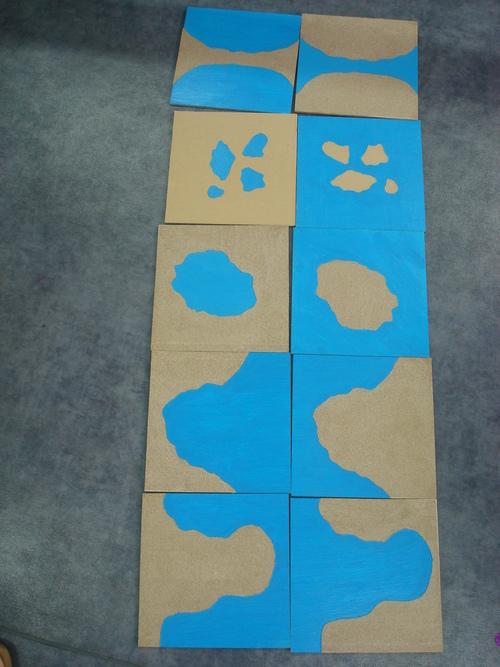 Les cartes de géographie Montessori