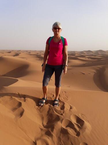 Au sommet d'une dune moyenne