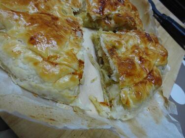 Tourte Champignons et Pommes de Terre à la Moutarde