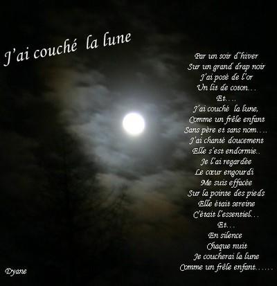 Blog de dyane :Traces de Vie, J'ai couché la lune