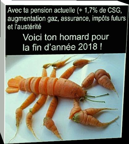 Voici ton homard pour la fin d'année 2018 !