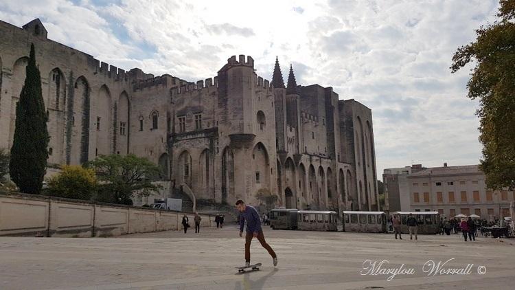 Avignon (84) : Palais des Papes et Jardin des Doms