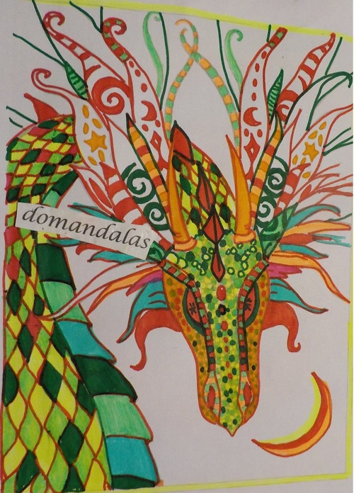 DOMANDALAS  dragon album Mystical Molly Harrison