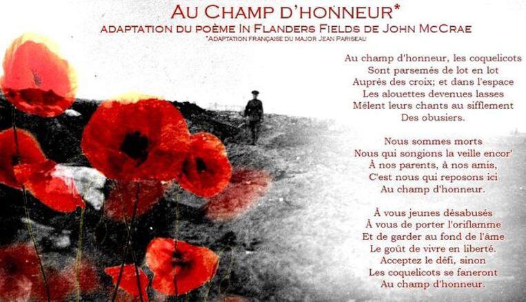 Au champ d'honneur...