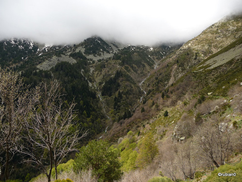 le fond de la vallée de la Lentilla