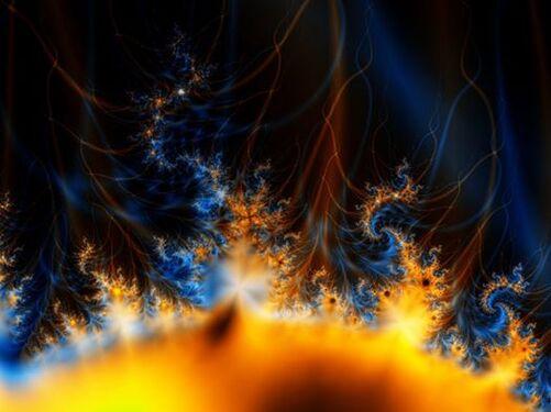 L'image contient peut-être: nuit, ciel, feu, plein air et nature