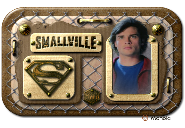 Scrap digital pur relief - cinéma - Smallville