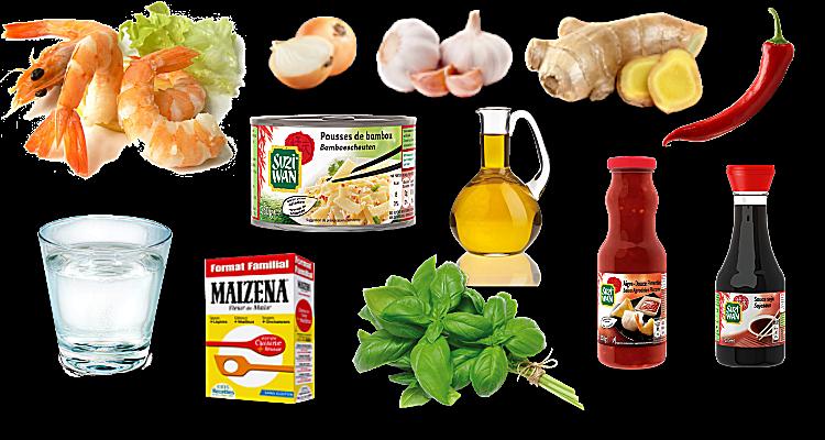 Crevettes à l'ail sauce pimentée