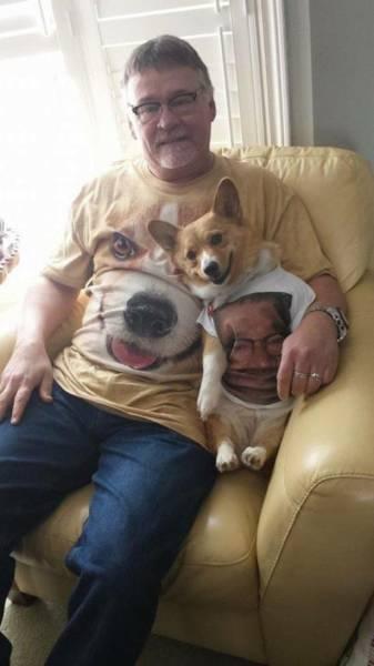 t shirt chien maître