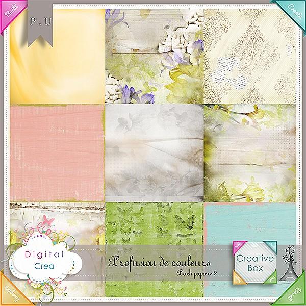 Kit & templates Profusion de couleurs by Xuxper Designs