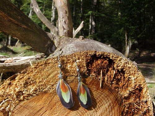 Boucles d'oreilles aux couleurs de la nature