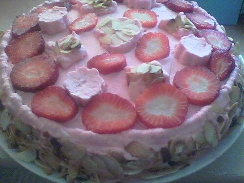 Gâteau aux fraise