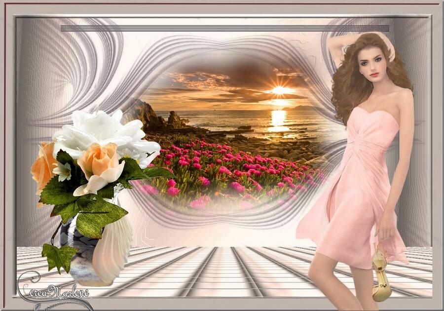 Le soleil et les roses