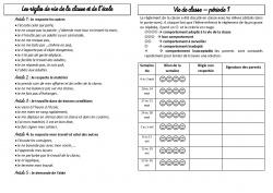 Le cahier de liaison et les infos pour les parents