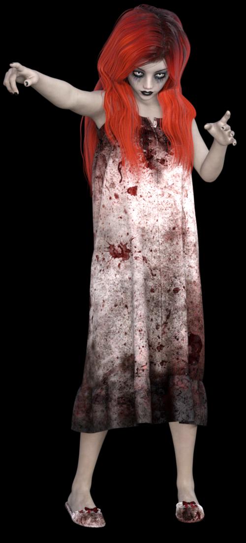 Image de jeune fille vampirisée (tube)