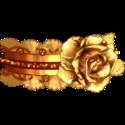 jarretière rose d'or