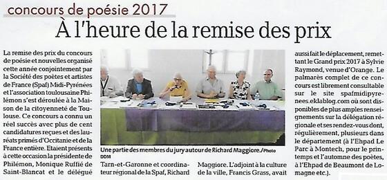 REMISE DES PRIX 2017