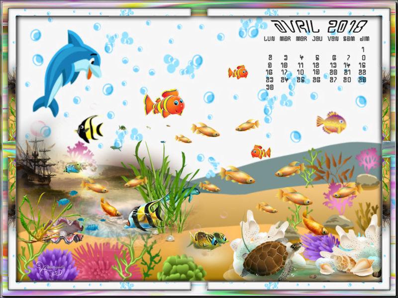 *** défis mixte mensuels - calendrier d'Avril ***