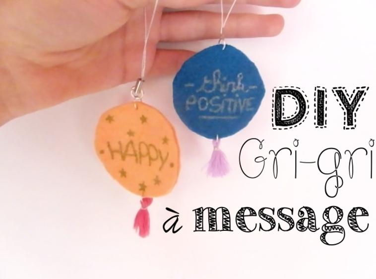Smile up ! DIY • Gri-gri à message