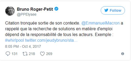 Macron injurie les chômeurs