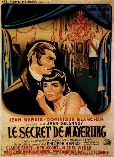 LE SECRET DE MAYERLING - BOX OFFICE JEAN MARAIS 1949