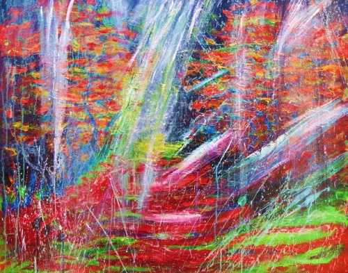 312. Brume d'automne.acrylique sur toile de 1m x0,80 (dec.2011)
