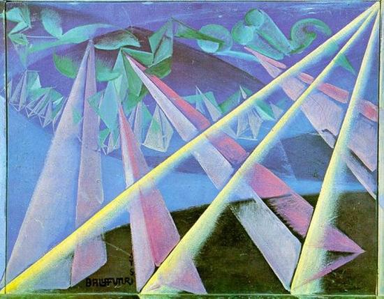 Giacomo Balla, Transformation d'esprit de forme, 1918