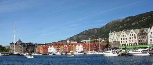les maisons sur les quais de Bergen