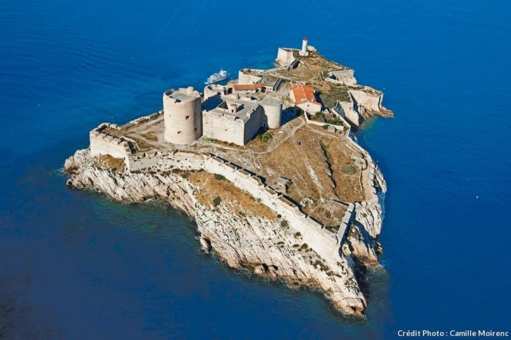 Le château d'If, vue aérienne