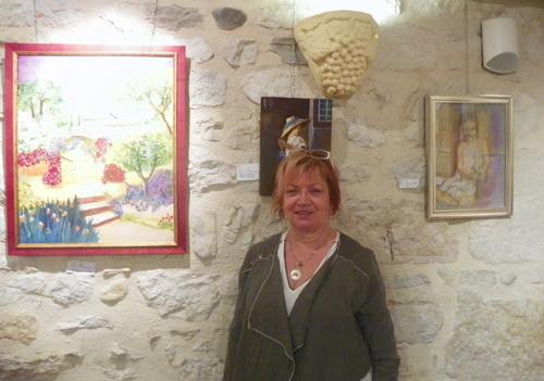 Vernissage de l'exposition de peintures de Christine Seux