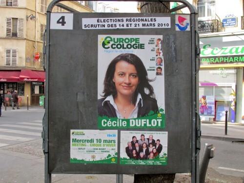 affiche politique Régionales Europe Ecologie