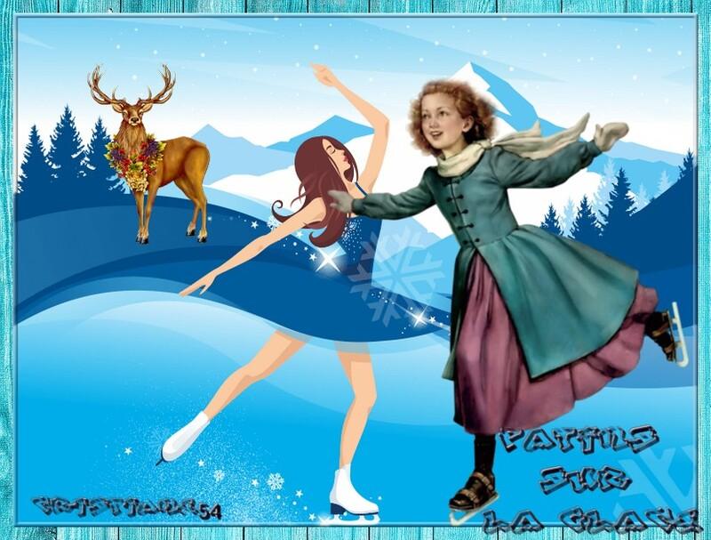 Patins sur la glace pour Georgette défi !