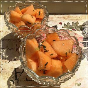 Melon au miel, menthe & cognac