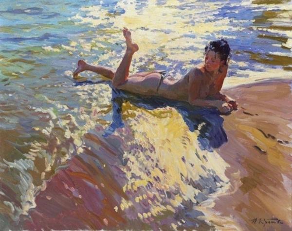 Le peintre Yuri Krotov