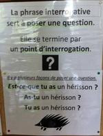 Affichage de classe en grammaire conjugaison